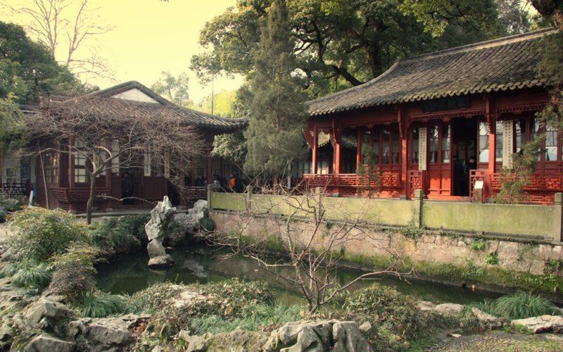 Tempel am Westsee von Hangzhou.