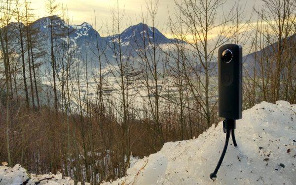 Mit 360 Grad Kameras im Glarnerland unterwegs. Fotos: OZ