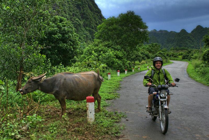 Motorradfahren in Vietnam